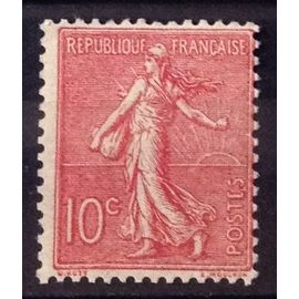 Semeuse Lignée 1903 - 10c rose (Très Joli n° 129) Neuf* - Cote 9,00€ - France Année 1903 - N27018