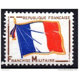 france 1964, très bel exemplaire de franchise militaire - drapeau français, yv. fm 13, neuf** luxe