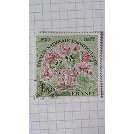 Lot n°683 ■ timbre oblitéré france n ° 1930 ---- 1f70 vert-olive et carmin-brun