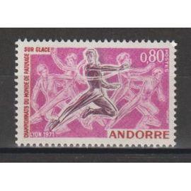 andorre français, 1971, sport (patinage sur glace), n°209, neuf.