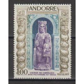 andorre français, 1973, vierge de canolich, n°228, neuf.