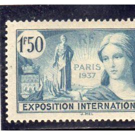Timbre neuf** de France n° 336 Propagande expo internationale de Paris ref FR15484