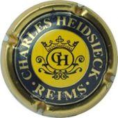 CHARLES-HEIDSIECK N° 61 CENTRE JAUNE CAPSULE DE CHAMPAGNE