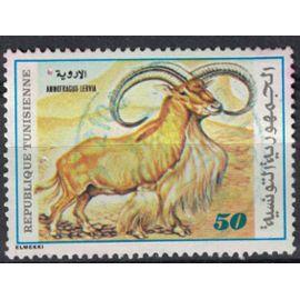 Tunisie 1980 Oblitéré Used Animal Ammotragus Lervia Mouflon à manchettes SU