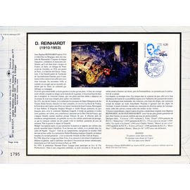 france document philatélique cef n° 1130 TIMBRE N° 2810 django reinhardt compositeur guitariste 1er jour 14/5/1993