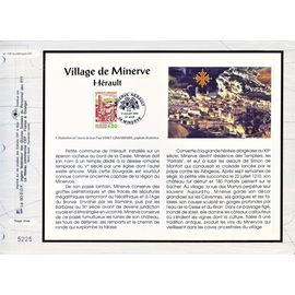 france document philatélique cef n° 1137 TIMBRE N° 2818 village de minerve hérault 1er jour 17/7/1993