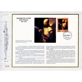 france document philatélique cef n° 1139 TIMBRE N° 2828 série artistique georges de la tour saint thomas 1er jour 9/9/1993