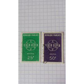 Lot n°731 ■ paire de timbres oblitérés france n ° 1218 - 1219