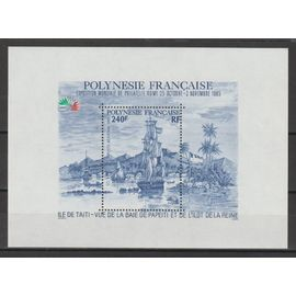 "polynésie française (océanie), 1985, blocs & feuillets, ""italia"