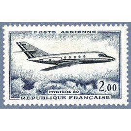 France 1965, Très Bel Exemplaire De Poste Aérienne, P.A. 42 - Avion Dassault Mystère 20, Neuf** Luxe