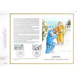 france document philatélique cef n° 771 TIMBRES N° 2584 2585 europa jeux d