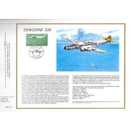 france document philatélique cef N° 857 TIMBRE POSTE aériènne n°60 avion dewoitine 338 1er jour toulouse 11/4/1987