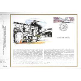 france document philatélique cef N° 864 TIMBRE N° 2466 série touristique côte de meuse 1er jour vigneulles les hattonchatel 30/5/1987