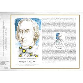 france document philatélique cef N° 800 TIMBRE N° 2396 les hommes célèbres françois arago 1786-1853 1er jour estagel 22/2/1986