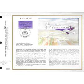 france document philatélique cef N° 836 TIMBRE poste aérienne N°59 avion wibault 283 1er jour le bourget 11/10/1986