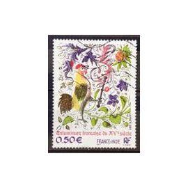 Timbre Oblitéré Enluminure Française du XVème siècle France Inde 2003 n°3629 Y&T