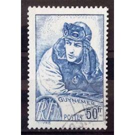 Capitaine Aviateur Guynemer 50f (Superbe n° 461) Obl - Cote 10,00€ - France Année 1940 - N26231