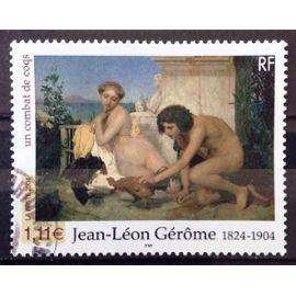 Jean-Léon Gérôme - Un Combat de Coqs 1,11€ (Superbe n° 3660) Obl - France Année 2004 - N26655