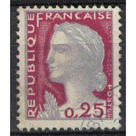 France 1960 Oblitéré Used Marianne de Decaris 0,25 F Type I Y&T 1263 SU