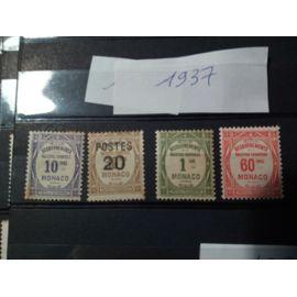 timbres année 1937 monaco