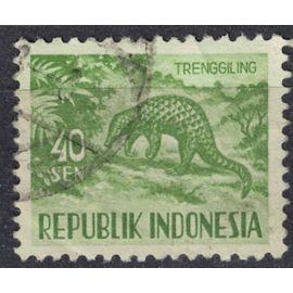 Indonésie 1958 Oblitéré Used Animal Manis javanica Pangolin de Malaisie SU