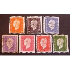 france oblitéré y et t N° 685 et plus lot de 7 timbres de 1945 cote 1.05