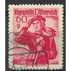 Autriche 1958 Oblitéré Used Carinthia Lavanttal Provincial Costumes Provinciaux SU