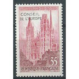 Cathédrale de Rouen, timbre de service surchargé conseil de l