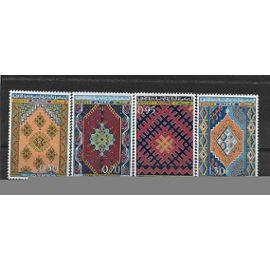 ALGERIE 1968 : Tapisserie : Nemencha / Guergour / Djebel Amour / Kalaa - Série entière de 4 timbres NEUFS ** cote 17,20 €