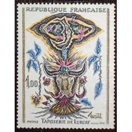 France 1966, très beau timbre neuf** luxe yvert n° 1493 - Tapisserie de Lurçat.