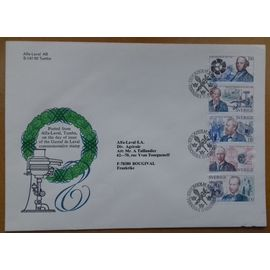 Timbre commémoratif Gustaf de Laval (Suède) - Oblitération jour d