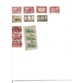 algérie : 13 timbres anciens oblitérés- Afrique du sud : 34 timbres oblitérés