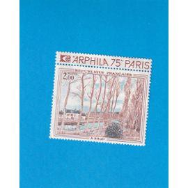 "1 TIMBRE DE FRANCE NEUF - 1974 - ARPHILA - SISLEY ""LE CANAL DU LOING"""