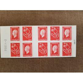 Carnet de timbres Marianne