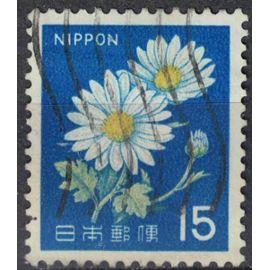 Japon 1966 Oblitéré Used Plante Fleurs Leucanthemum vulgare Marguerite commune SU