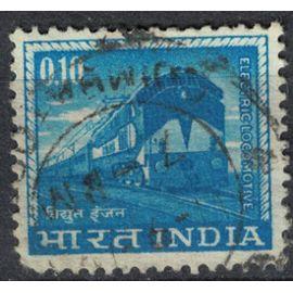 Inde 1966 Oblitéré Used Chemins de Fer Transports Electric Locomotive Electrique SU