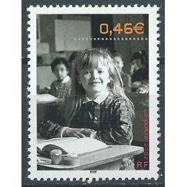 Le siècle au fil du timbre 2002, sur les bancs de l