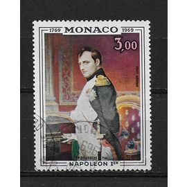 MONACO POSTE AERIENNE 1969 : Bicentenaire de la naissance de Napoléon 1er : Portrait de P. Delaroche - Timbre oblitéré