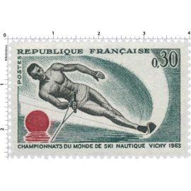 Timbre : CHAMPIONNATS DU MONDE DE SKI NAUTIQUE VICHY 1963 neuf**