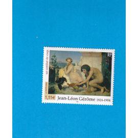 """1 TIMBRE DE FRANCE NEUF - 2004 - YT3660 - J.L. GEROME """"UN COMBAT DE COQS"""""""