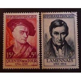 France oblitéré Y et T N° 1110 1111 lot de 2 timbres de 1957 cote 8.90