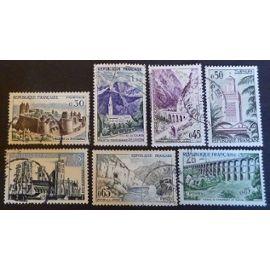 France oblitéré Y et T N° 1235 à 1241 lot de 7 timbres de 1960 (série complète) cote 2.00