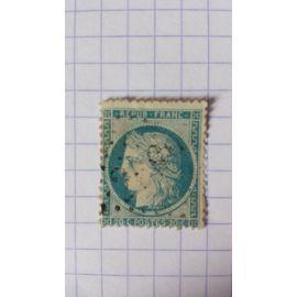 Lot n°857 ■ timbre oblitéré france classique n ° 37 ---- 20c bleu