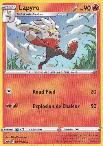 Carte Pokemon LAPYRO 032//202 REVERSE Epée et Bouclier 1EB01 FR NEUF