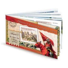 france 2012, très beau carnet neuf** luxe yvert 714, chateaux et demeures historiques, 12 timbres yvert 714 à 725, auto-adhésifs validité permanente, collection ou affranchissement.