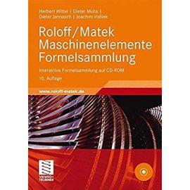 Roloff/Matek Maschinenelemente Formelsammlung: Interaktive Formelsammlung auf CD-ROM (German Edition) - Unknown