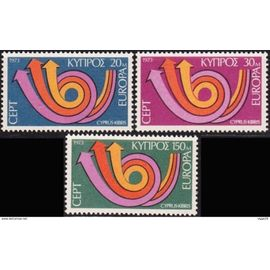 3 timbres neufs Europa Chypre 1973