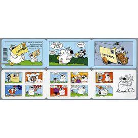 france 2006, très belle bande carnet neuve** luxe yv. BC 86, 10 timbres validité permanente lettre 20g. BD cubitus, 10 timbres auto-adhésifs yvert 86 à 85 pour collection ou affranchissement.