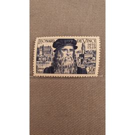 timbre centenaire Leonard de Vinci