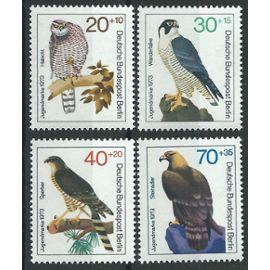 Timbres Berlin Allemagne Fédérale 1970 oiseaux rapaces neufs** n° 407 408 409 410